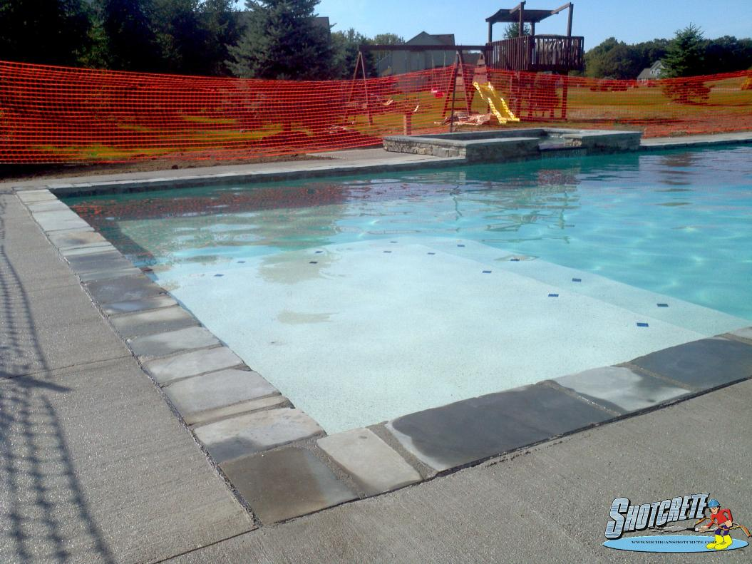 gunite swimming pool in dexter, mi