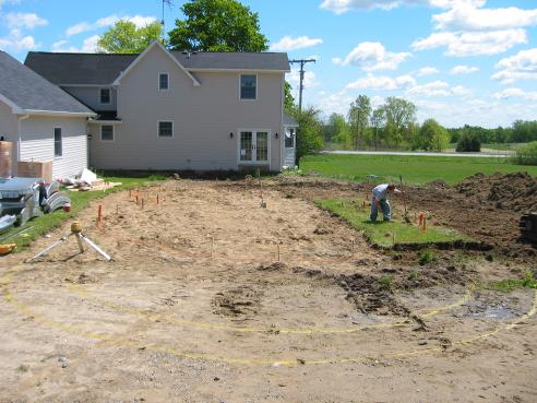 stake layout design of swimming pool Imlay City, Mi